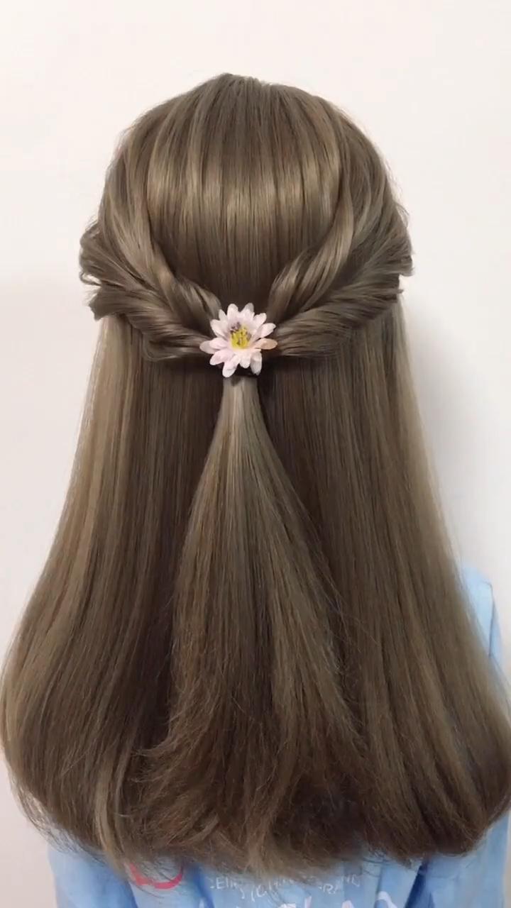 Simple Spring Hairstyle Tutorial Beautifulhairstylesforwedding Hairstyle Simple Sprin In 2020 Hair Styles Hair Braid Videos Braided Hairstyle Tutorial Videos