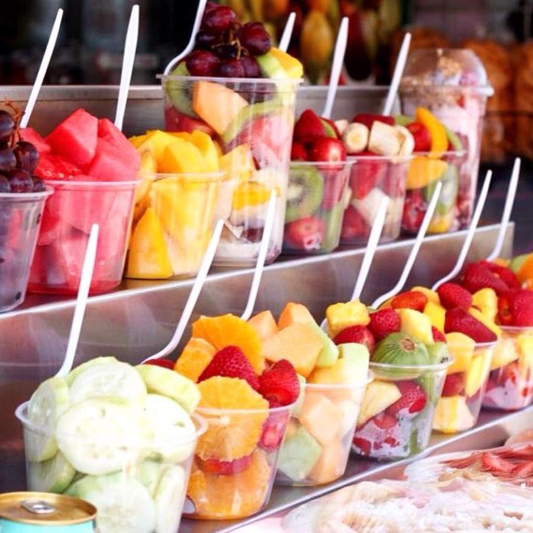 Brunch Entertaining Idea DIY Fruit Salad Bar