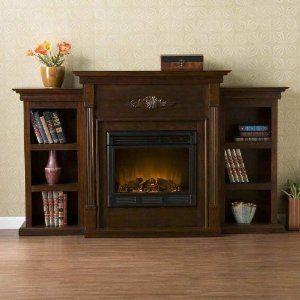 Amazon Com Sei Tennyson Electric Fireplace With Bookcases