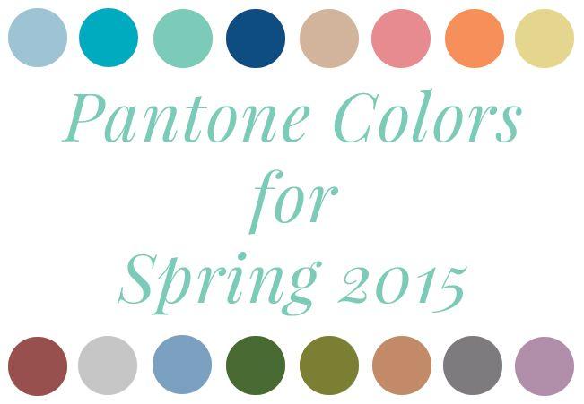 pantone colors for spring 2015 wedding themes ideas pinterest