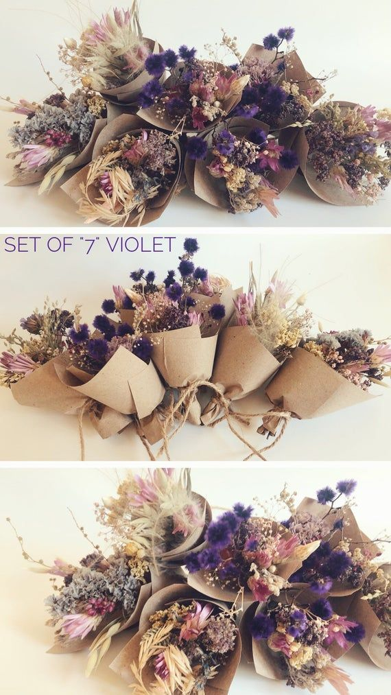 Small Bouquet of dry wild Flowers, flower gift box 小さな花束