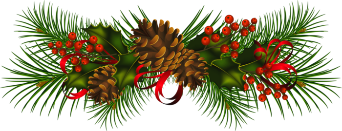 Pine Christmas clip art large | Clip Art Holiday Scrapbook, Cards ...