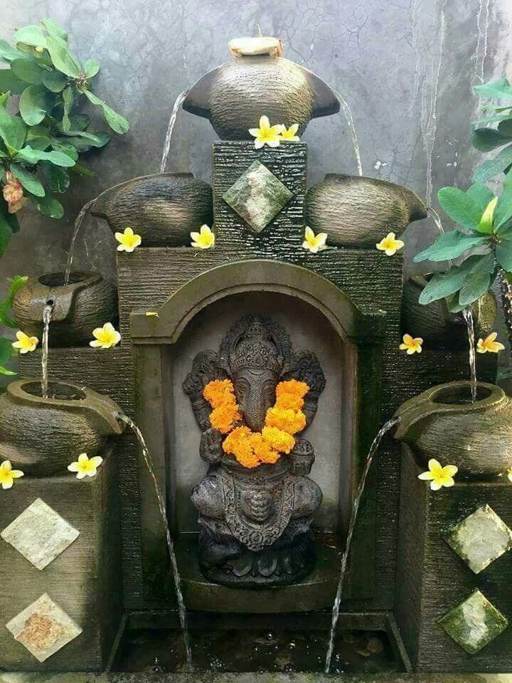 Ganesha Home Fountain Backyard House Wedding Picture Walls