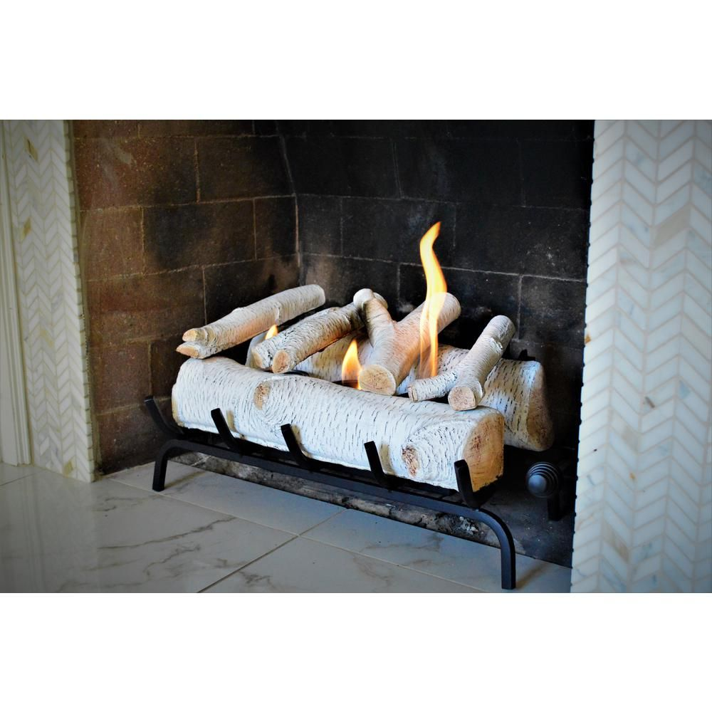 Terra Flame 24 in. Birch Fireplace Log Set in 2020 ...