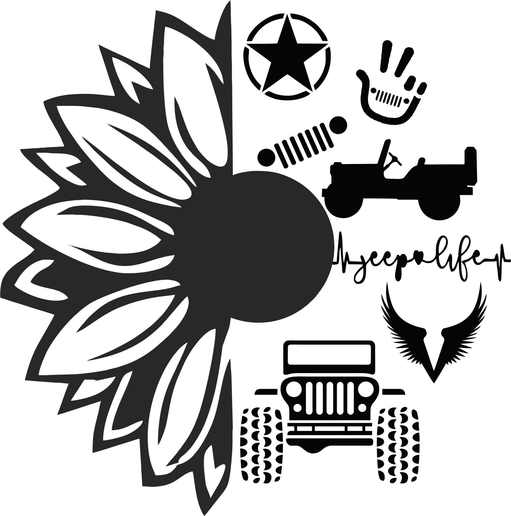 Download Sunflower Jeep SVG in 2020 | Cricut projects vinyl, Cricut ...
