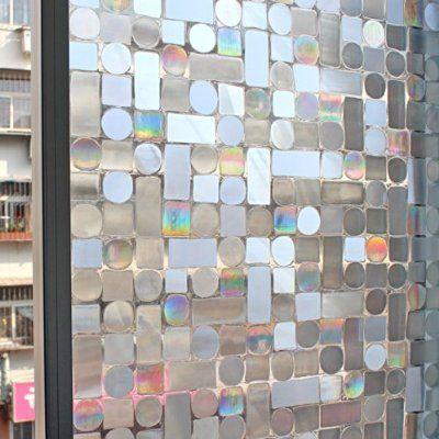 Cottoncolors Premium No Glue 3d Static Decorative Privacy Window Films 3ft X 6 5ft 90 X 200cm Window Privacy Stained Glass Window Film Window Film Privacy