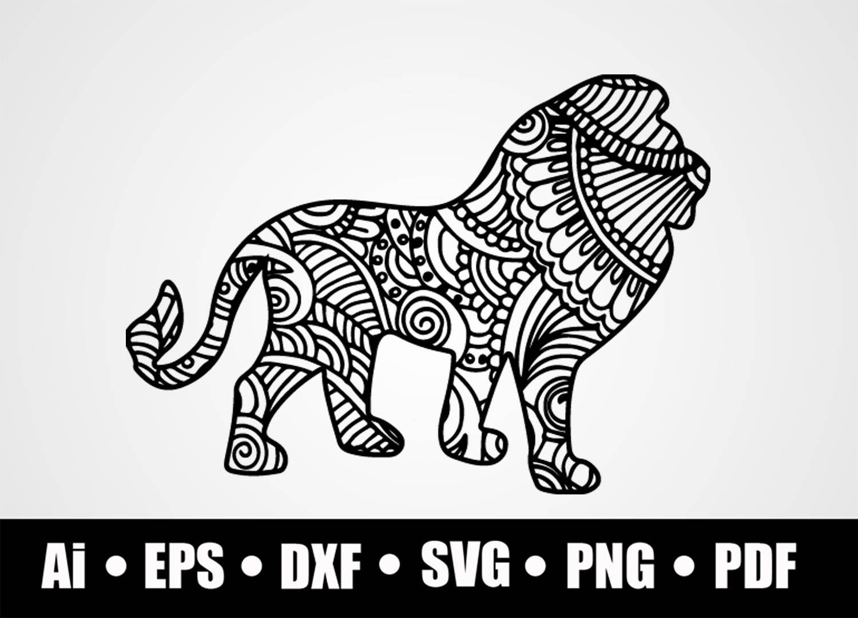 Download Mandala Lion / SVG / Dxf / Png / Eps / Ai / Pdf / Cricut ...