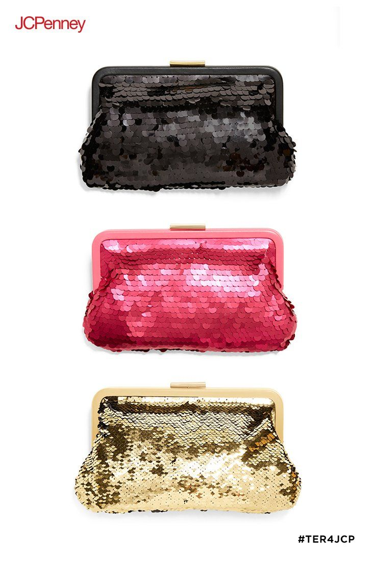 dc8d4952e55 A sparkly sequined clutch by Tracee Ellis Ross for JCPenney is the  just-right size