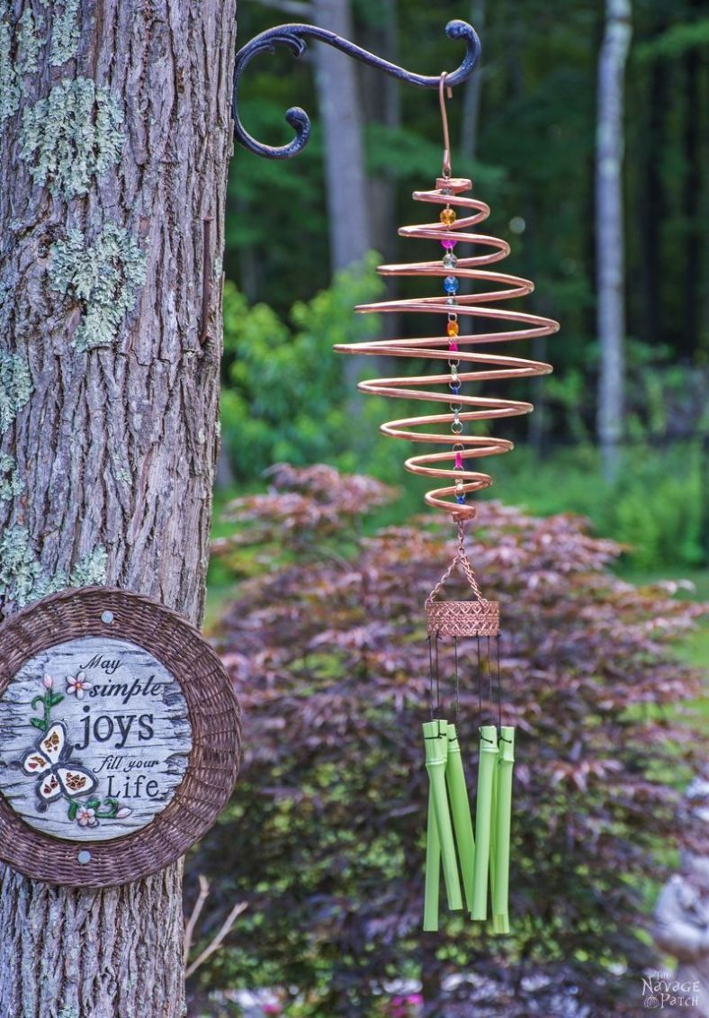 Coiled Copper Wind Chime | DIY wind chime | How make a spiral wind ...