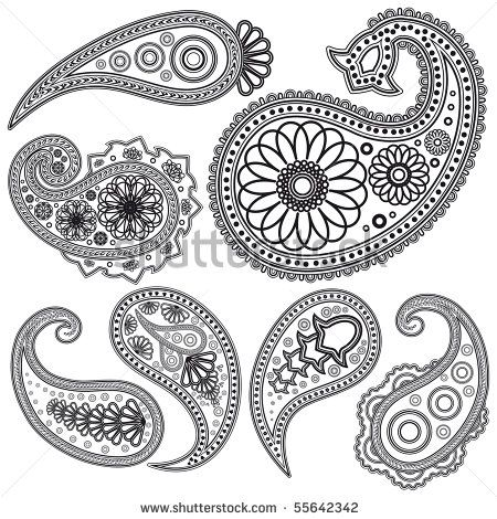 Vintage Paisley Patterns Printable Stencil Patterns Henna Tattoo Designs Paisley Tattoo