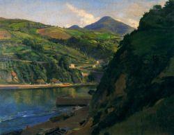 blastedheath:  aurosanlo Ignacio Díaz Olano(Spanish, 1860-1937),Ría de Motrico.1924. Oil on canvas, 87 x 103cm.