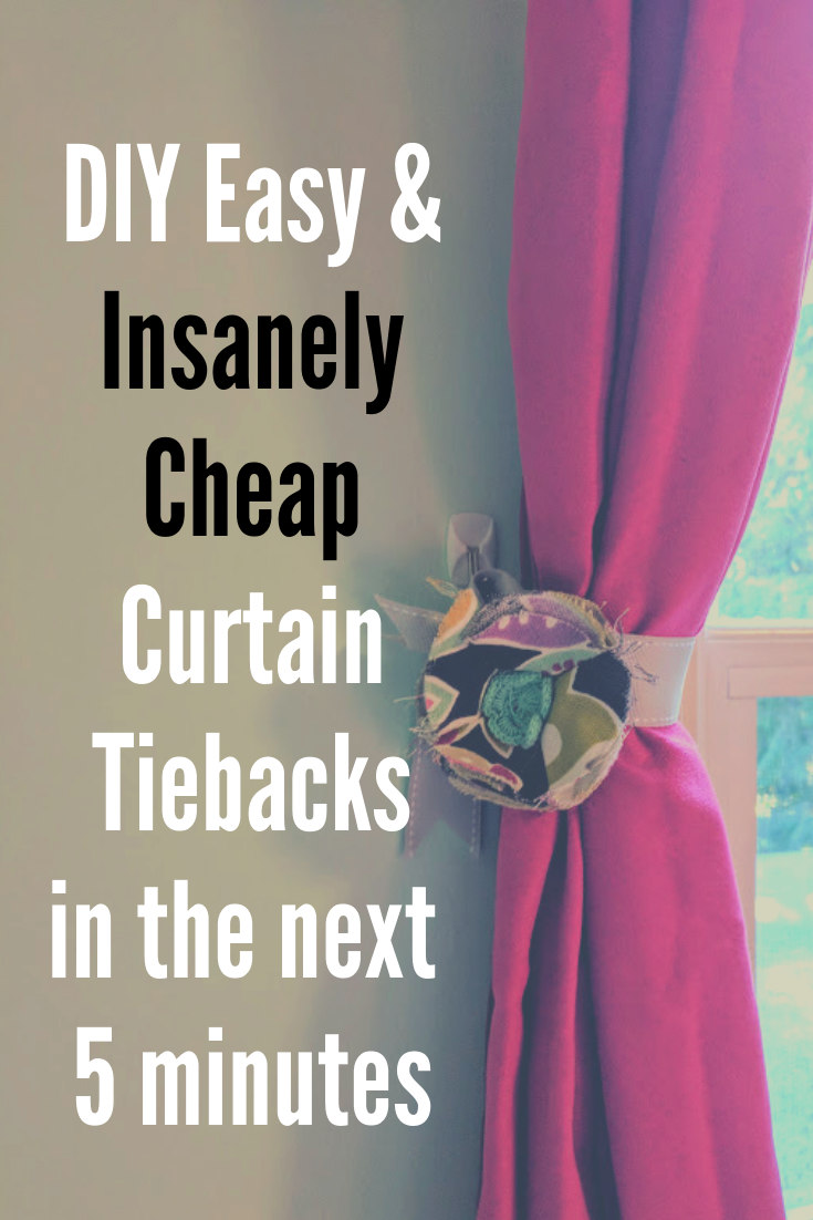 How To Make Insanely Cheap Curtain Tiebacks In Under Five Minutes