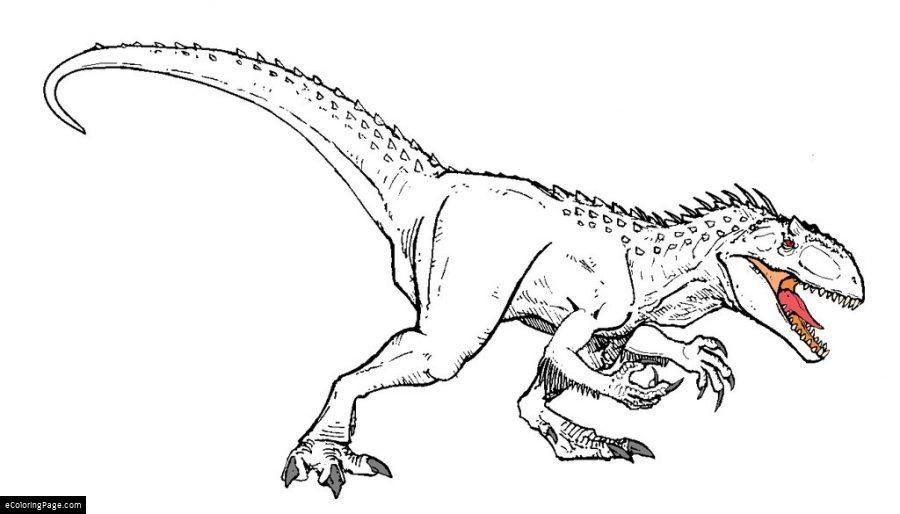 Indominus Rex Coloring Page Dominex Rex Colorear Dinosaur