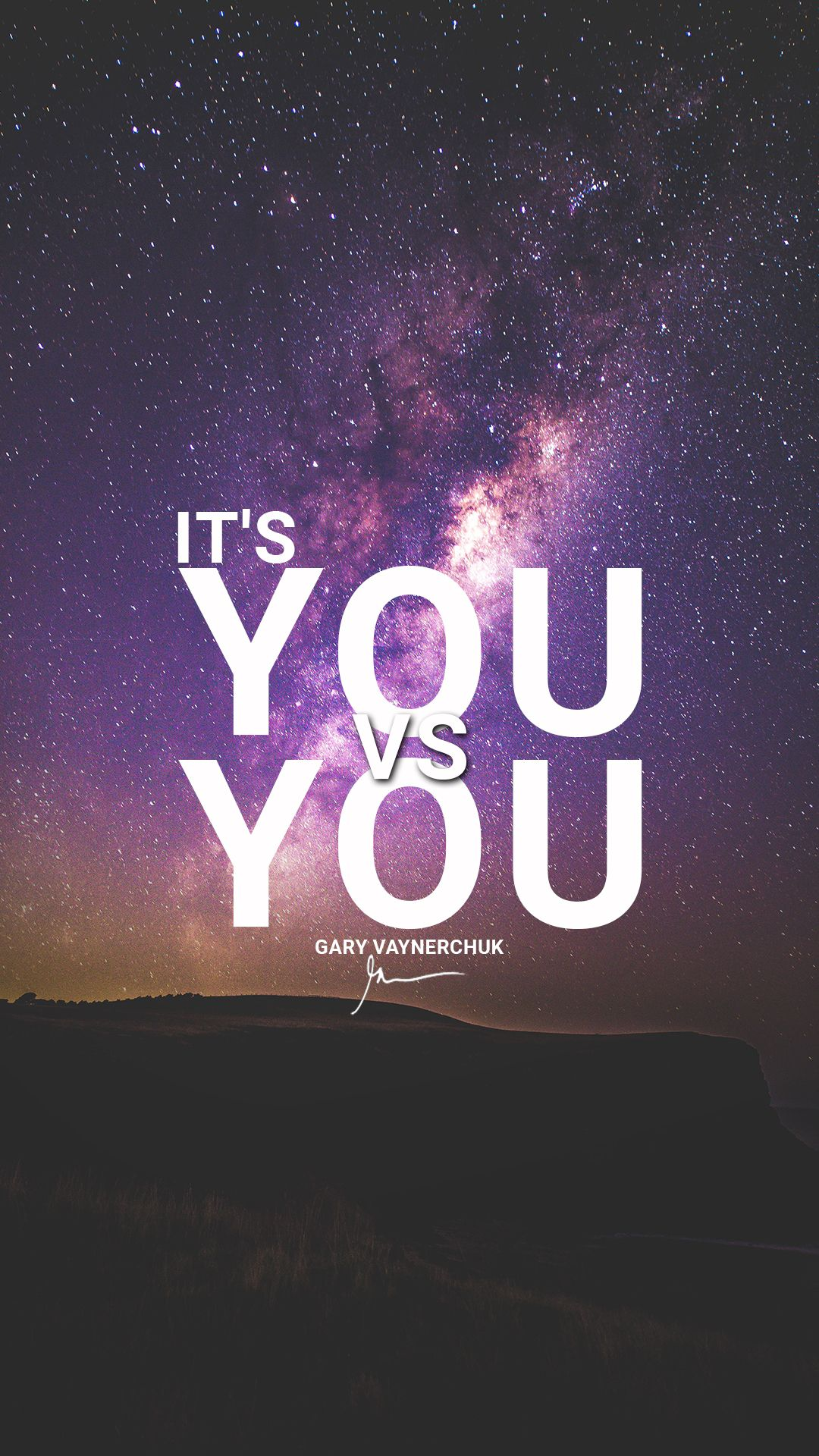 it's you vs you gary vaynershuk motivational quotes millionaire