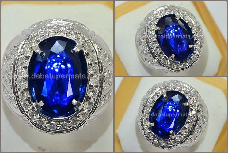 Batu Mulia Langka Royal Blue Sapphire No Heat Burma Spc 173 Cincin Batu Permata Cincin Safir Batu Permata