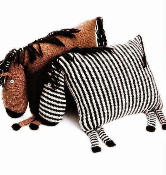 Caballito y cebra: dos almohadones divertidos | Crochet y dos agujas ...