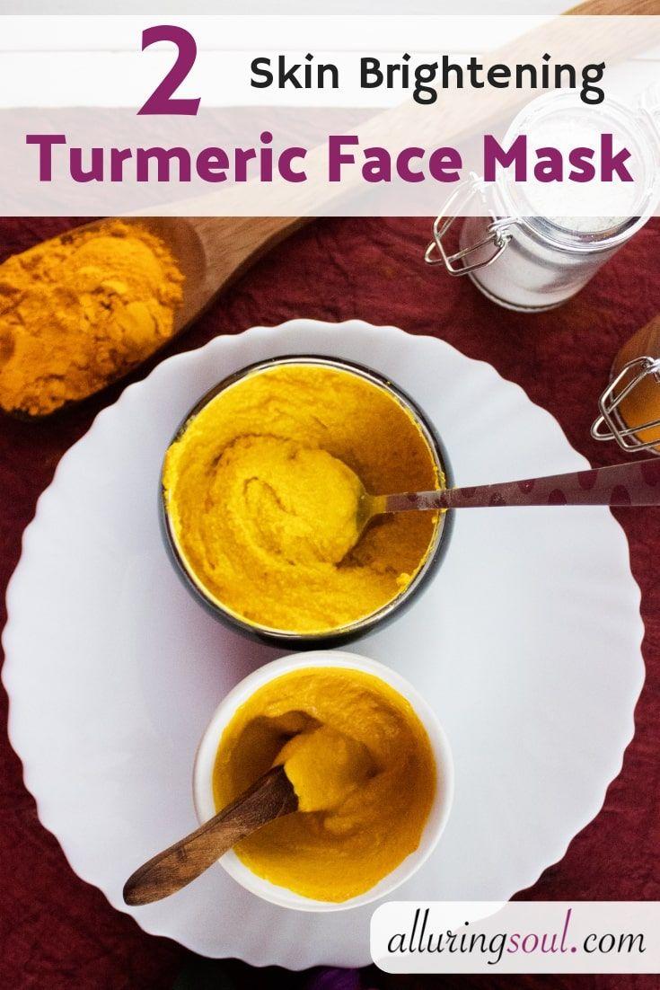 2 DIY Skin Brightening Turmeric Face Mask Alluring Soul