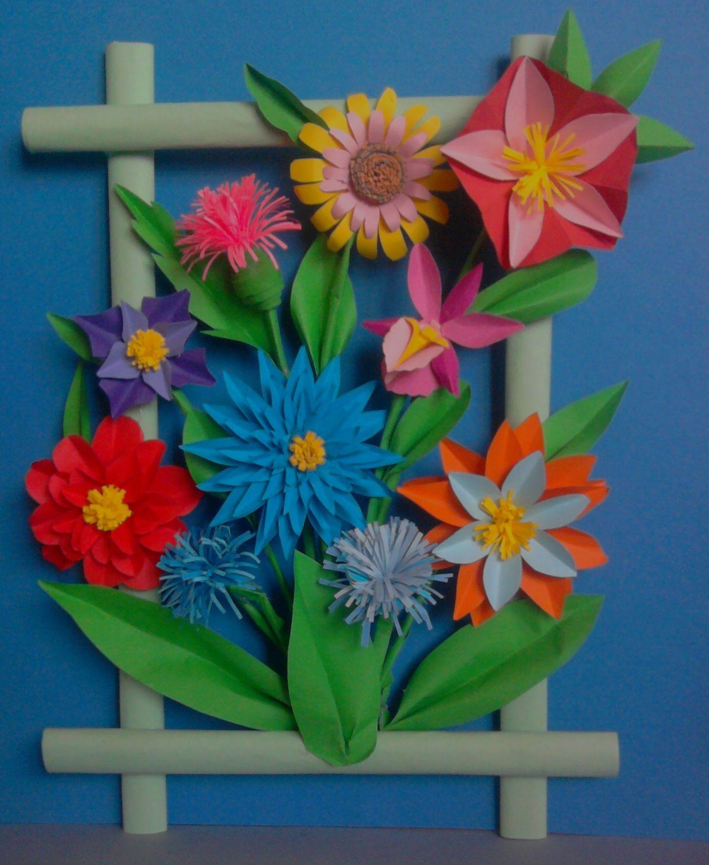 Kwiaty Z Papieru Ikebana Prace Plastyczne Dariusz Zolynski Flowers Paper Paper Flowers Orgiami Kirigami Wycinanki Paper Flowers Crafts Paper Crafts