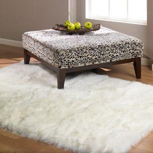 White Faux Fur Rug White Fur Rug Faux Fur Area Rug White Fluffy Rug