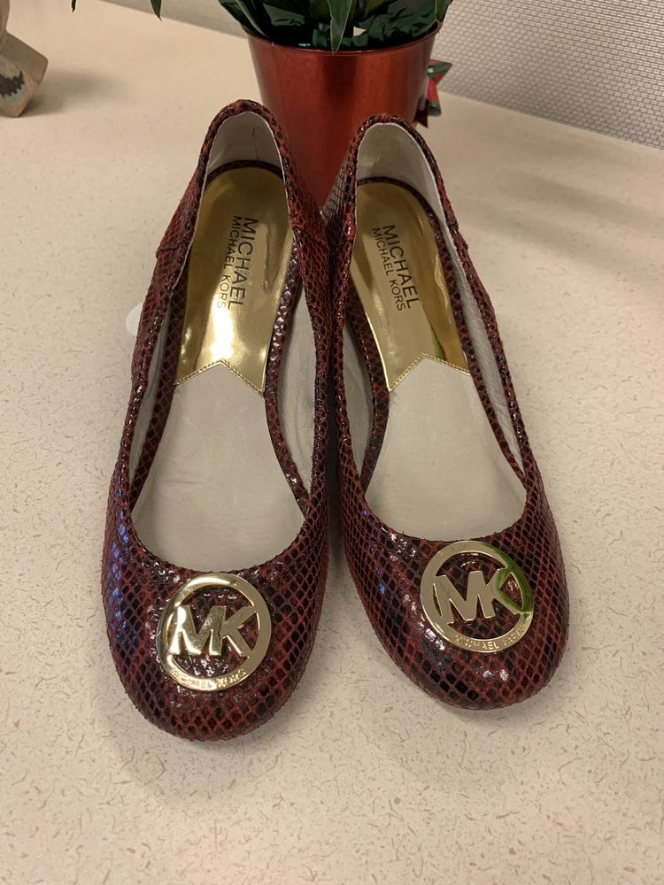 5190d78025fa Michael Kors Leather Womens Flats Red Black Snake print Ballet Size 7   fashion  clothing  shoes  accessories  womensshoes  flats (ebay link)