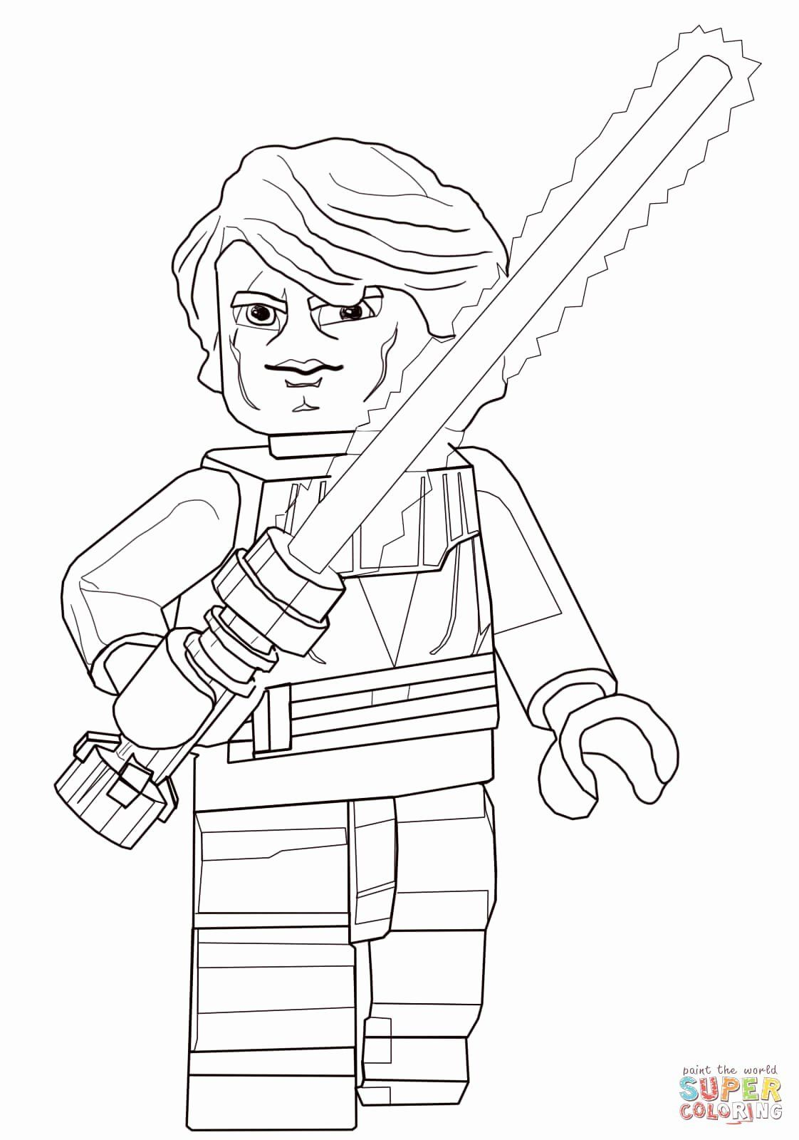 Lego Star Wars Coloring Page New Lego Star Wars Anakin Skywalker Coloring Page Star Wars Colors Star Wars Coloring Book Star Wars Coloring Sheet