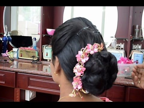 Kerala Christian Bridal Easy Hairstyle 2 Full Tutorial Hairstyles Kerala Wedding Hairstyles Tutorial Bridal Hair Decorations