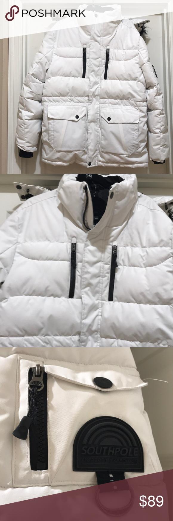 Like New Southpole White Puffer Jacket Size L White Puffer Jacket Puffer Jackets Jackets [ 1740 x 580 Pixel ]