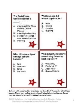 world war task cards for us history activities activities  50 world war 1 task cards for us history activities
