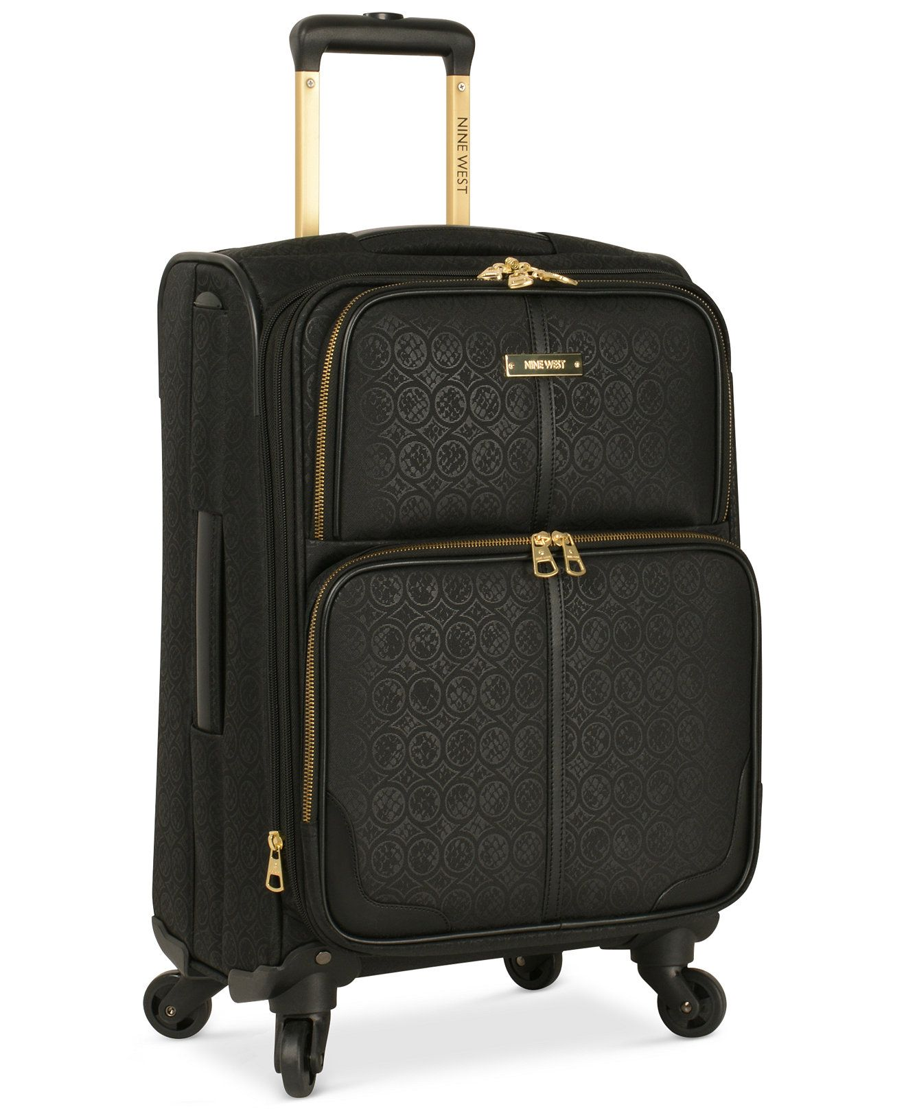 closeout nine west naria 20 quot carry on spinner suitcase