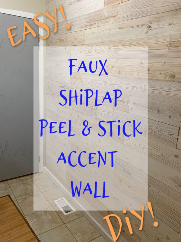 Faux Shiplap Peel And Stick Wood Plank Wall Crafty Little Gnome Shiplap Wall Diy Wood Plank Walls Peel And Stick Shiplap