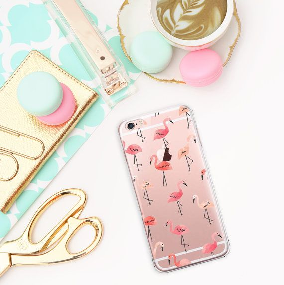 Flamingo Hülle Transparente Hülle iPhone 6s Hüllen von Caseity