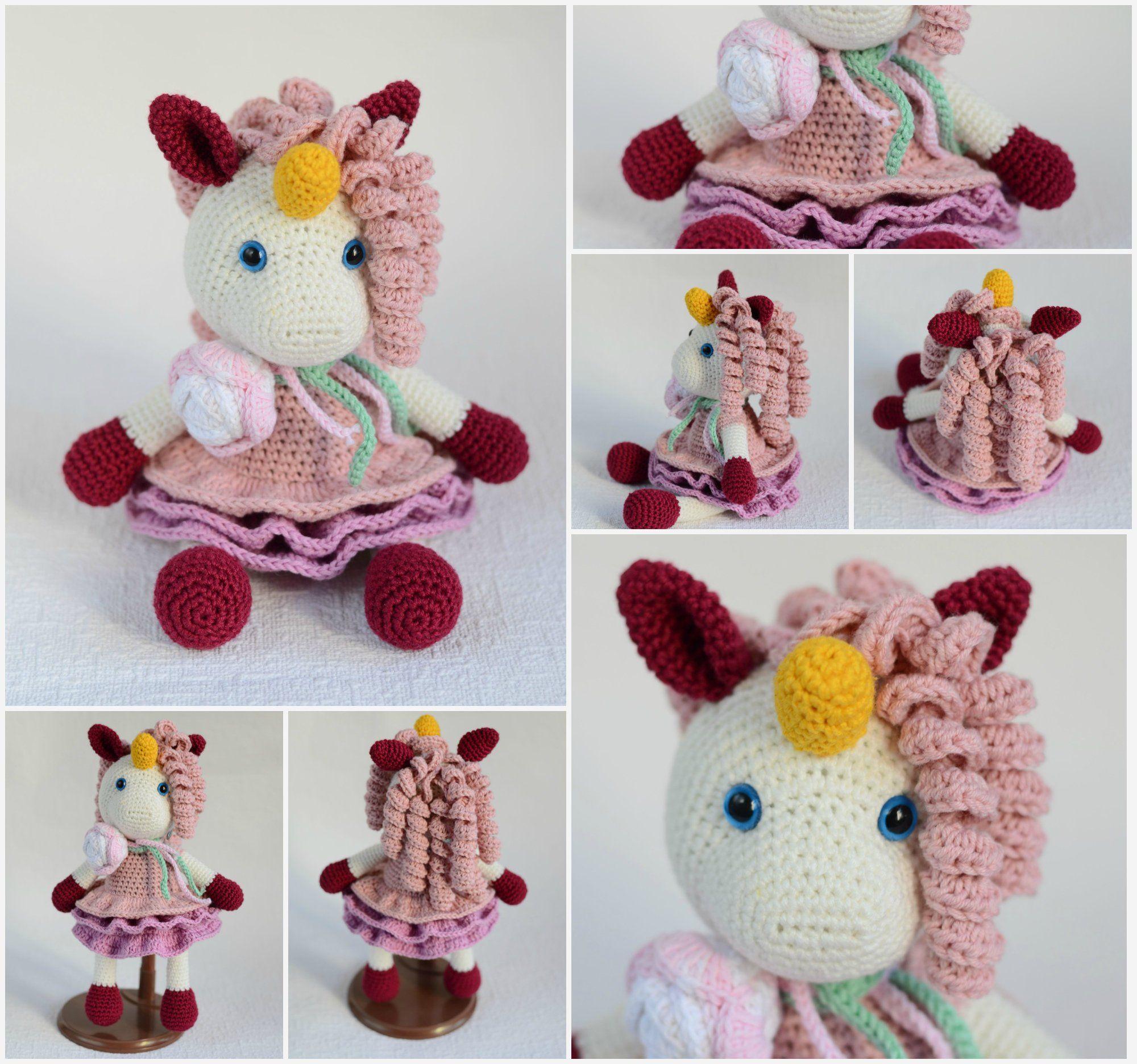 Ravelry: Phat the Rainbow Unicorn Amigurumi pattern by Tiny Rabbit ... | 1872x2000
