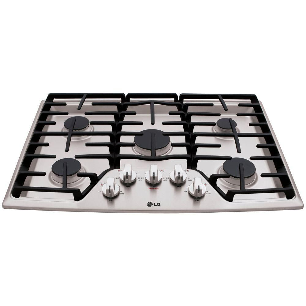 Lg Electronics 30 In Recessed Gas Cooktop In Stainless Steel With