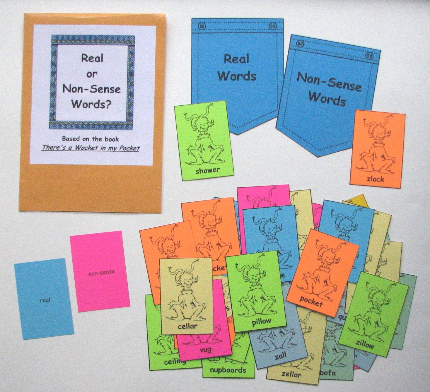 Real Or Nonsense Words Match Students Will Practice And