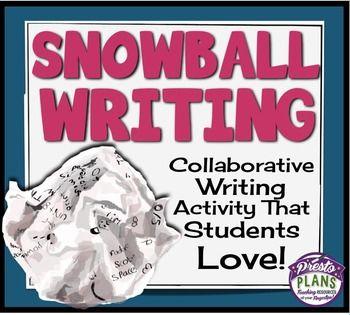 Writing activity: snowball writing | TEACHING IDEAS | Teaching
