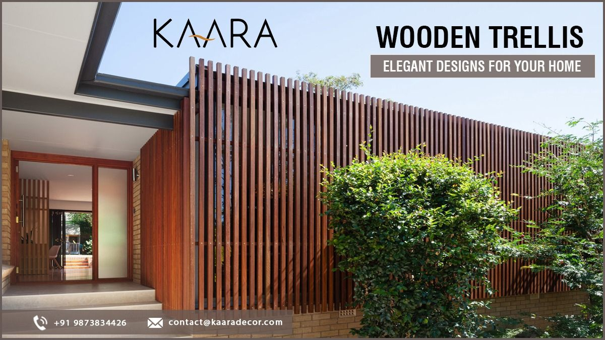 It's the time to revamp your home Decor with Wooden Trellis from KAARA! Choose from a wide range of styles & patterns. To buy, call us at +91-9873834426 OR mail us at contact@kaaradecor.com #Trellis #outdoordecor #outdoorhomedecor #outdoordecordesign #designexterior #moderndesign #HomeDecoration #kaara #Kaaradecor