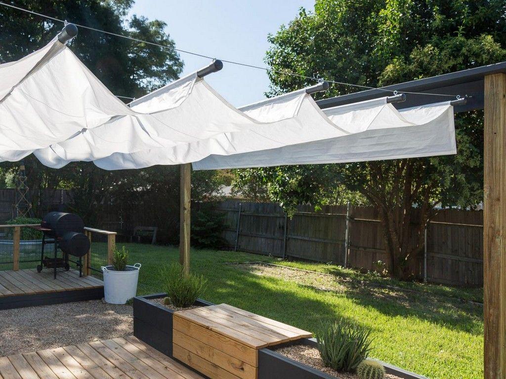 Backyard Shade Solutions Diy Ideas Deck Canopy Apartment Patio