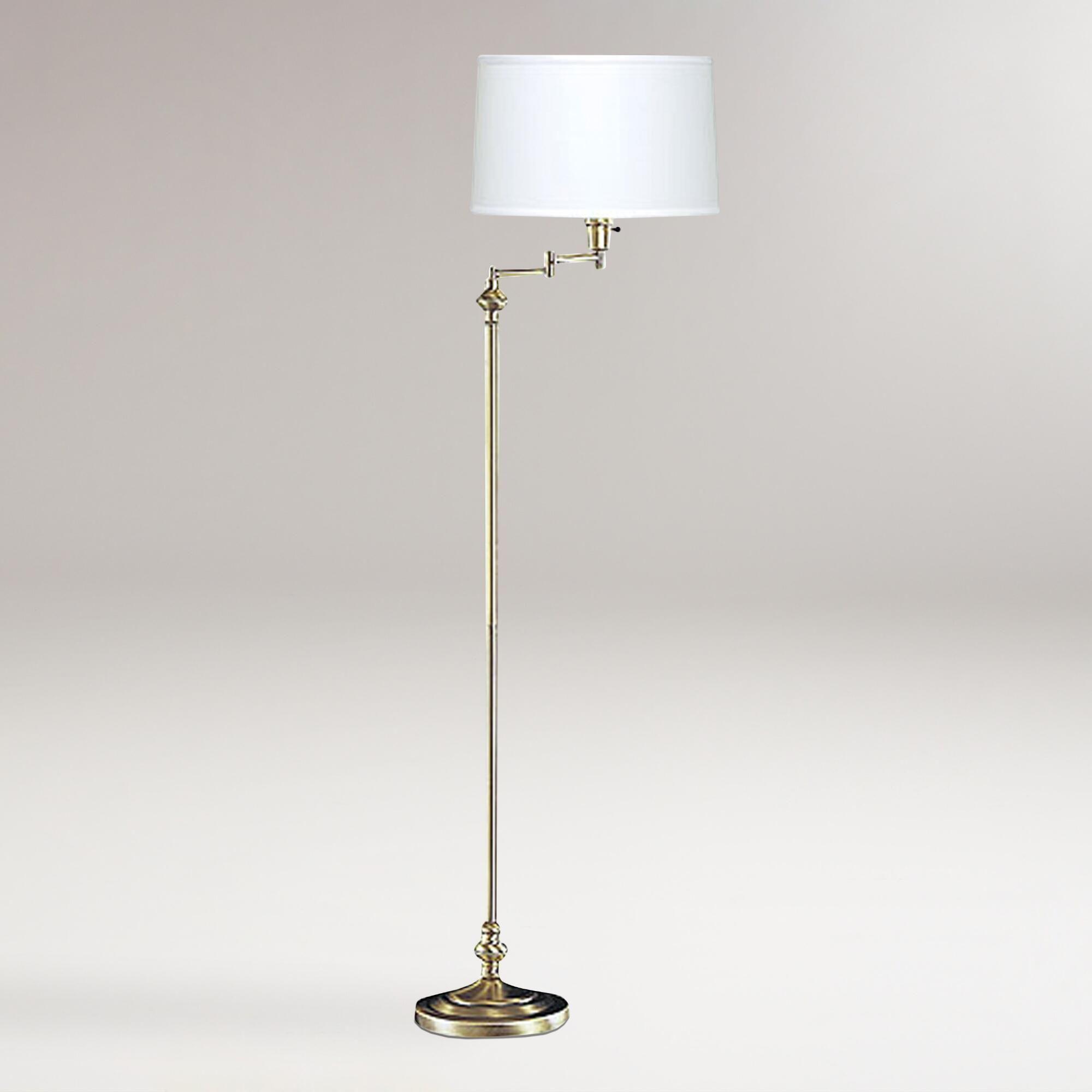 Antique bronze swing arm floor lamp world market swing
