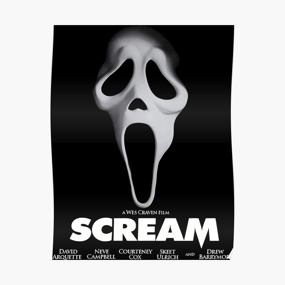 Scream Poster With Images Poster Design Scream Graphic Tshirt