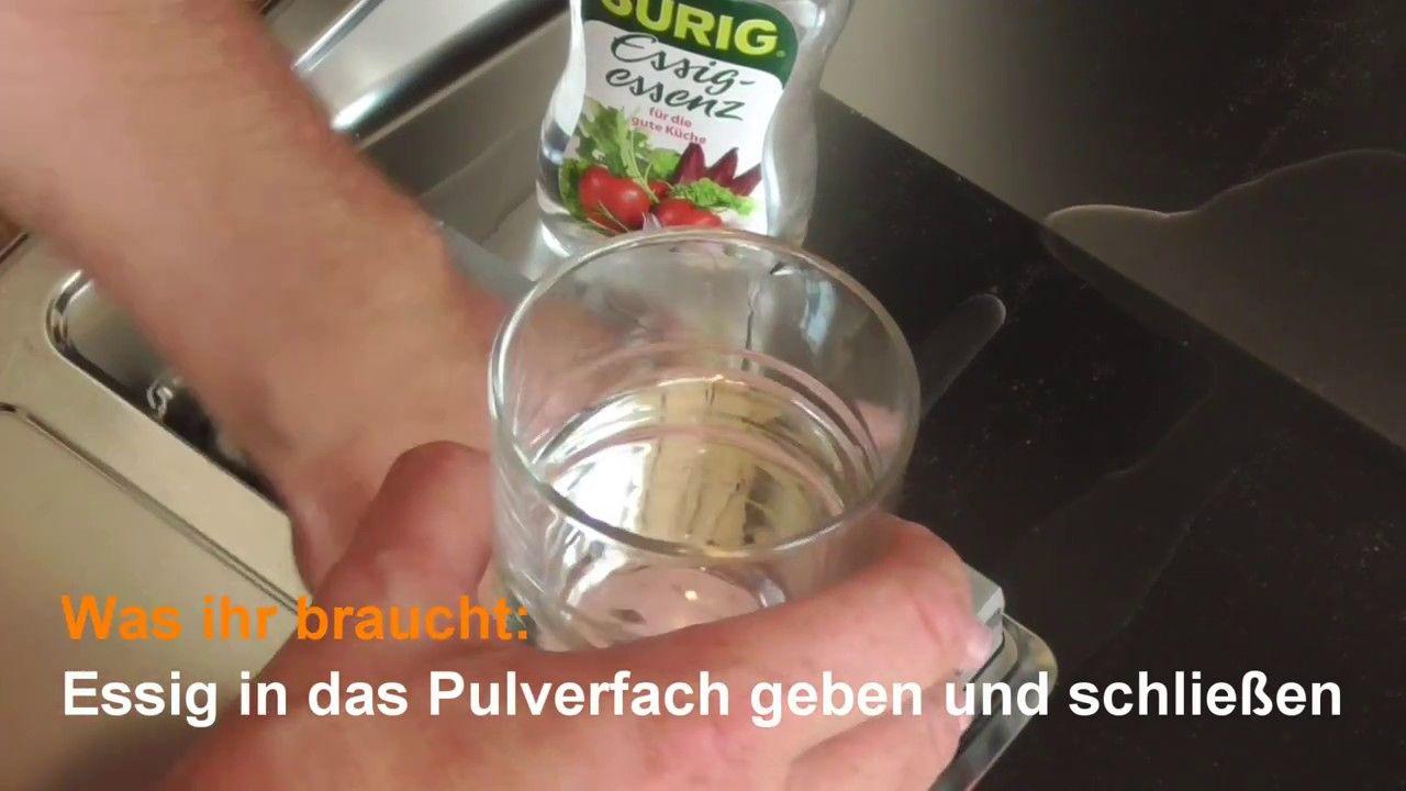 Spülmaschine reinigen Geschirrspüler mit Essig