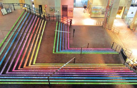 9 Bright Ideas Win Funding To Refresh Boston S Public Spaces Public Space Space Redesign Stair Art