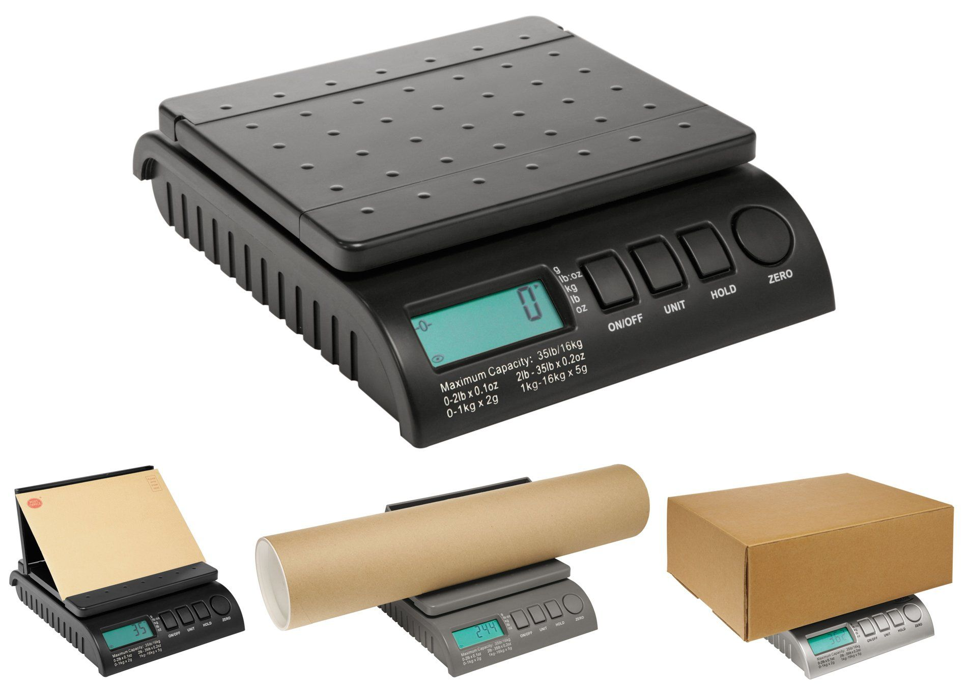 Digital Postal Scale Shipping Postage Letter Package 50lb Battery And AC Adapter