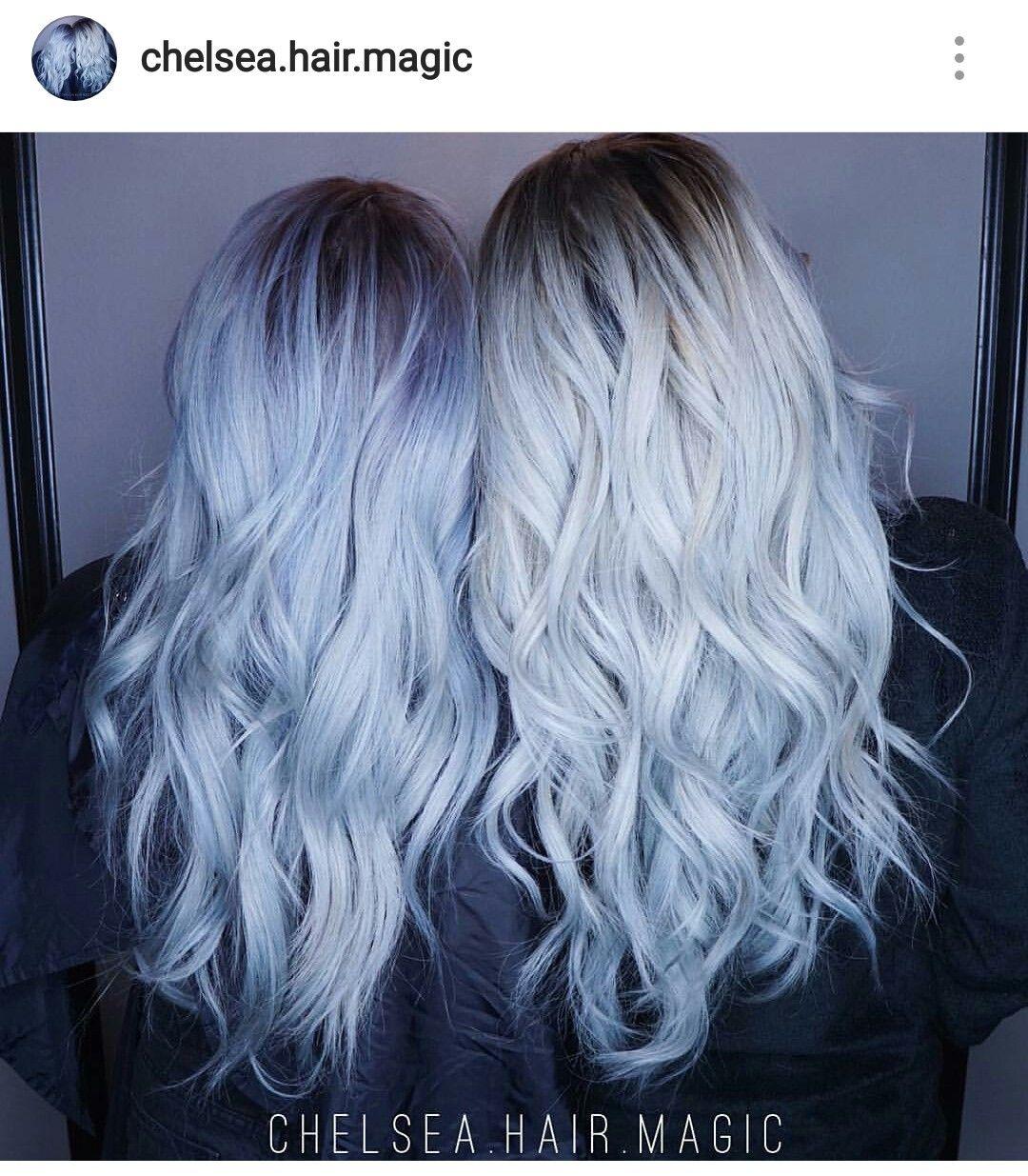 Pin By Dominique Arleane On Hair Unique Color Blue Hair White Hair Toner Denim Hair