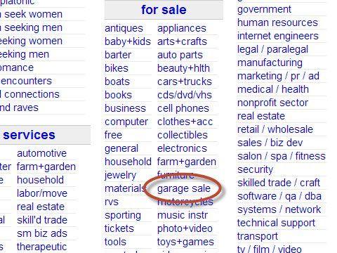 Craigslist Garage Sale San Diego
