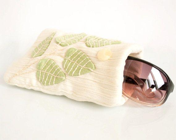 Cream White Sunglasses Case Cream White Eyeglasses by Yanettine