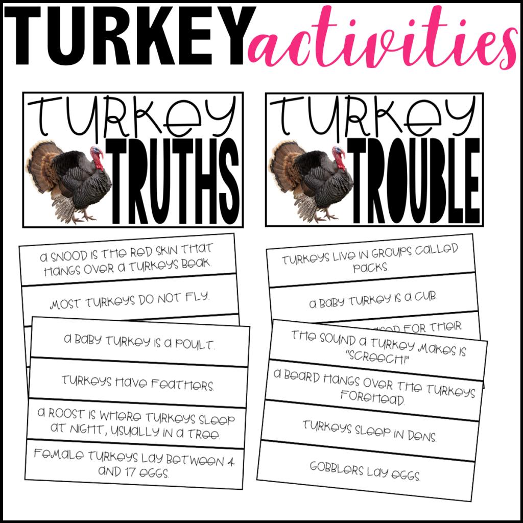 Turkey Freebies For Teachers