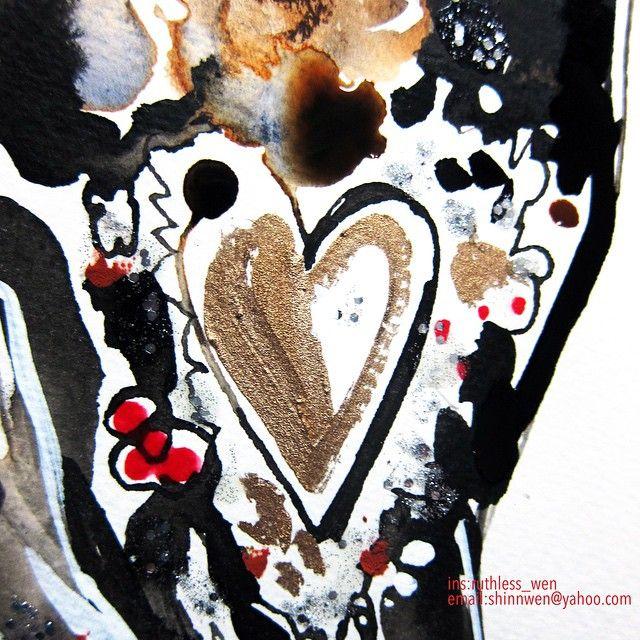 «#details in @dolcegabbana @harpersbazaar_ru #magazine #cover @stefanogabbana #Shinnwen #art #art_spotlight #drawing #artist #fashion #artofdrawingg…»
