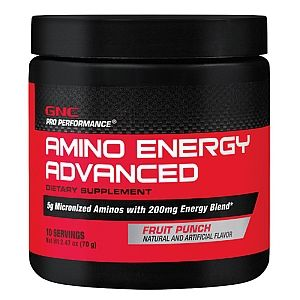 gnc pro performance amino energy advanced fruit punch gnc pro