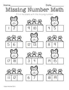 Easter Math Graphing Missing Number Counting On Ten Frames Easter Math Fun Math Worksheets Fun Math