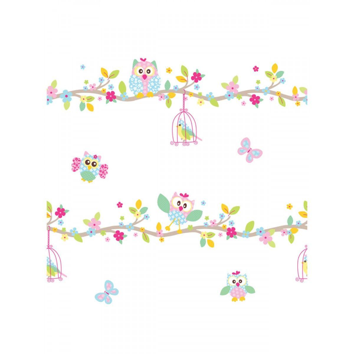 Room Mates Fairy Princess Wallpaper Border Owl wallpaper